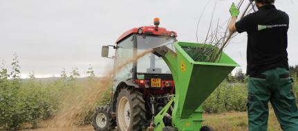Buschholzhäcksler zur Ankoppelung an Kleintraktoren   LS 95 T (540 U/min )