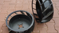 Grabenfräse mit hydraulischem Fahrantrieb und Honda Motor TR 60/13 HC